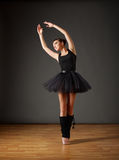 Ballerina in black costume Royalty Free Stock Images