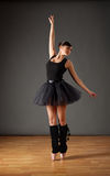 Ballerina in black costume Royalty Free Stock Photo