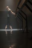Ballerina in black Stock Image