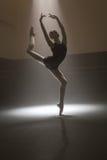 Ballerina in black leotard Stock Photo