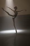 Ballerina in black leotard Royalty Free Stock Photos