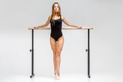 Ballerina in black outfit Stock Image