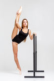 Ballerina in black outfit Royalty Free Stock Image