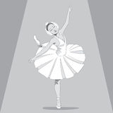 Ballerina Black & White Royalty Free Stock Photography