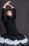 Ballerina in black and white tutu Royalty Free Stock Photo