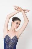 Ballerina in Blauw Royalty-vrije Stock Afbeelding