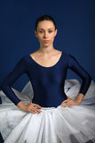 Ballerina on blue background Stock Image