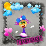 Ballerina with blue bow Royalty Free Stock Photography