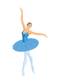 Ballerina in blue tutu Stock Photography