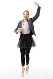 Ballerina business model with cup Stock Photo