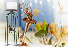Ballerina and candlestick Stock Image