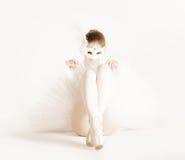 Ballerina in Carnaval masker Royalty-vrije Stock Foto's