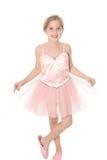Ballerina child. Isolated on white Royalty Free Stock Image
