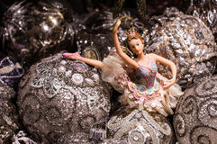 Ballerina, christmas tree decorations Royalty Free Stock Images