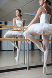 Ballerina in class Royalty Free Stock Photos