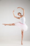 Ballerina in classical tutu over white background Stock Photography