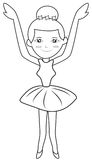Ballerina coloring page Royalty Free Stock Photography