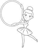 Ballerina coloring page Royalty Free Stock Image