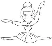 Ballerina coloring page Stock Photography