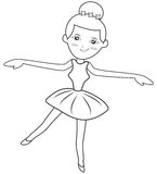 Ballerina coloring page Stock Images
