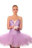 Ballerina con il giglio Fotografia Stock