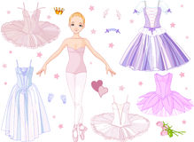 Ballerina with costumes stock illustration