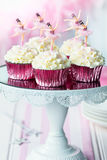 Ballerina cupcakes Stock Photography