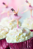 Ballerina cupcakes royalty free stock photography