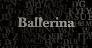 Ballerina - 3D übertrug metallische gesetzte Schlagzeilenillustration Stockfoto