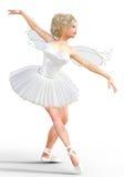 ballerina 3D con le ali Fotografie Stock Libere da Diritti