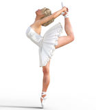 ballerina 3D med vingar Royaltyfri Fotografi