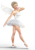 ballerina 3D med vingar stock illustrationer