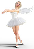 ballerina 3D med vingar Fotografering för Bildbyråer