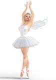 ballerina 3D med vingar Arkivbilder