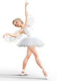 ballerina 3D med vingar Royaltyfri Foto