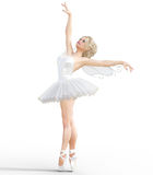 ballerina 3D med vingar royaltyfri illustrationer
