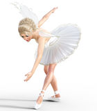Ballerina 3D mit Flügeln Lizenzfreies Stockfoto