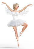 Ballerina 3D mit Flügeln Lizenzfreie Abbildung