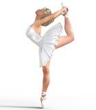 Ballerina 3D mit Flügeln Lizenzfreie Stockfotografie