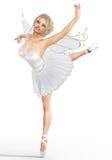 Ballerina 3D mit Flügeln Stockbild