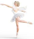 Ballerina 3D mit Flügeln Lizenzfreie Stockbilder