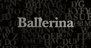 Ballerina - 3D teruggegeven metaal gezette krantekopillustratie Stock Foto