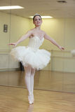 Ballerina in a dance studio Royalty Free Stock Images