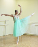 Ballerina in a dance studio Royalty Free Stock Image