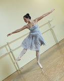 Ballerina in a dance studio Royalty Free Stock Photography