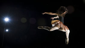 Ballerina dancer at night, outdoors Stock Images