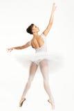 Ballerina dancer in tutu. Young ballerina dancer in tutu showing her techniques Royalty Free Stock Photo