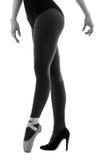 Ballerina dancer wearing ballet and high heels Stock Images