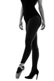 Ballerina dancer wearing ballet and high heels stock photography