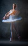 Ballerina dancing Royalty Free Stock Images
